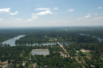 Angkor Wat by balloon
