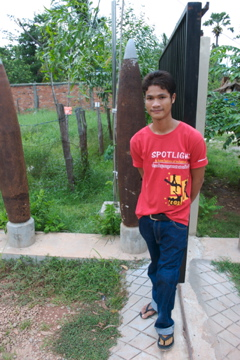 Landmine victim