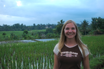 Me in Ubud rice paddies