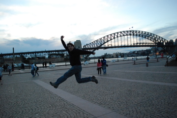 Curtis and the Harbour Bridge