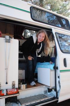 me in the campervan