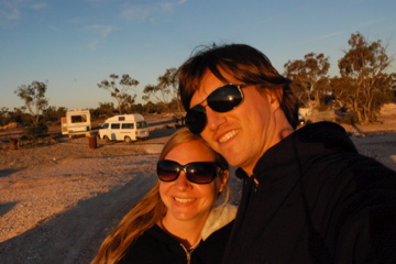 Us at sunset