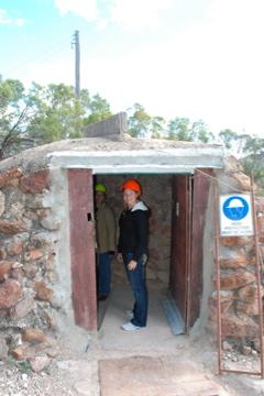 Heading into the mine