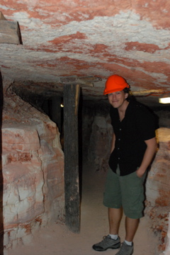 Curtis in the mine