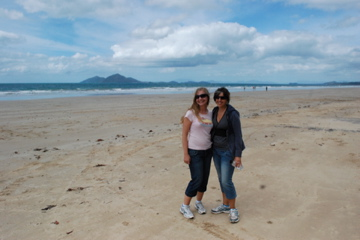 Me and Christine on Mission Beach
