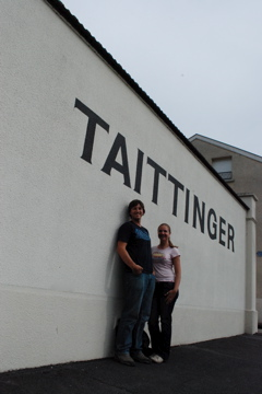 Curtis and Lindsie at Taittinger