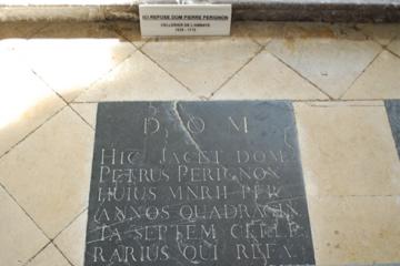 Dom Perignon's grave marker