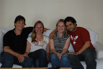 Couchsurfing with Pedro and Lenka