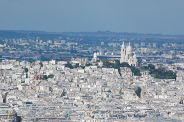 Sacre Ceour viewed from the Tour Montparnasse