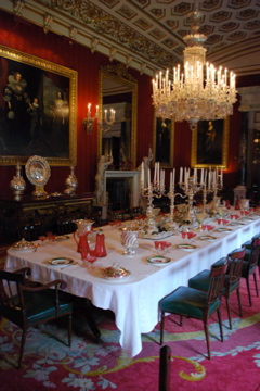 Formal dining room at Chatsworth
