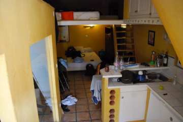 Our first room at Le Cigale Et La Fourmi, in Marseille