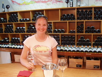 Flashpacking Wife at wine school in Beaune
