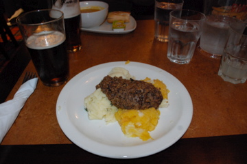 Haggis with neeps and tattys