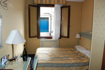 Our room at Hotel Falier