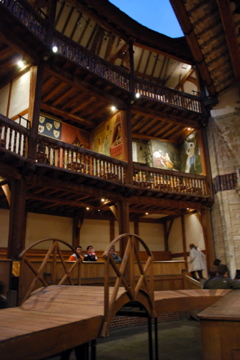 Inside the Globe Theatre in London