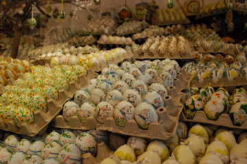 Decorative eggs in Salzburg