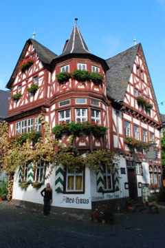 Typical German building in Bacharach
